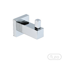Fluire Cubo Single Robe Towel Hook - Chrome