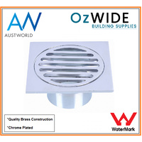 Floor Grate Drain 80 mm Chrome Removable Cover 50 mm
