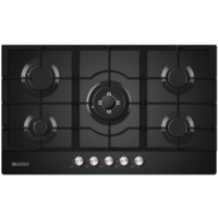 DiLusso 900 mm Gas Cook Top Black Glass