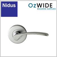 Nidus Capri Dummy Door Handle - Satin Chrome